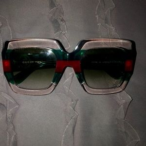Authentic Gucci Oversized Square Sunglasses
